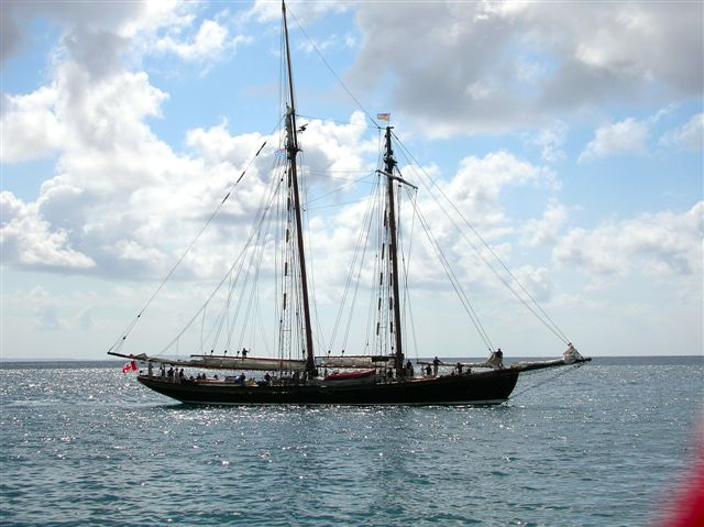 ship in Levuka harbour